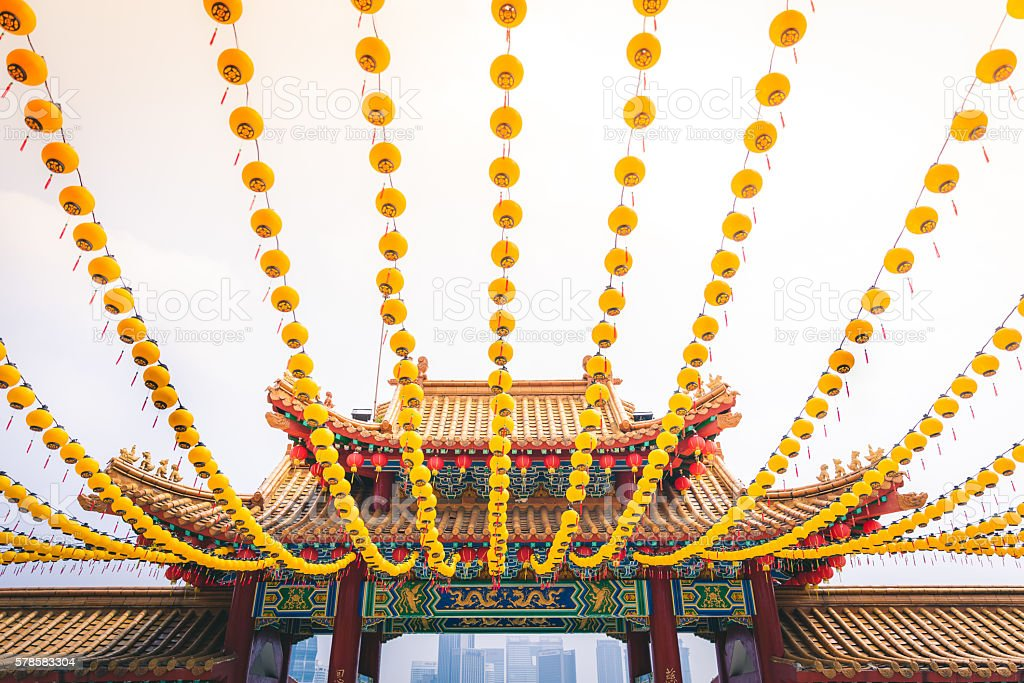 Temple Entrance in Kuala Lumpur royalty-free stock photo