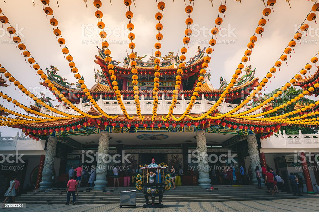 Temple Entrance in Kuala Lumpur royalty-free stock photo