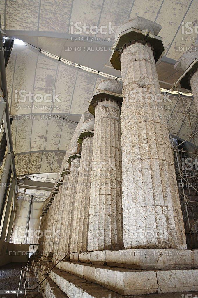 Temple Epicurean Apollo at Vasses, Greece stock photo