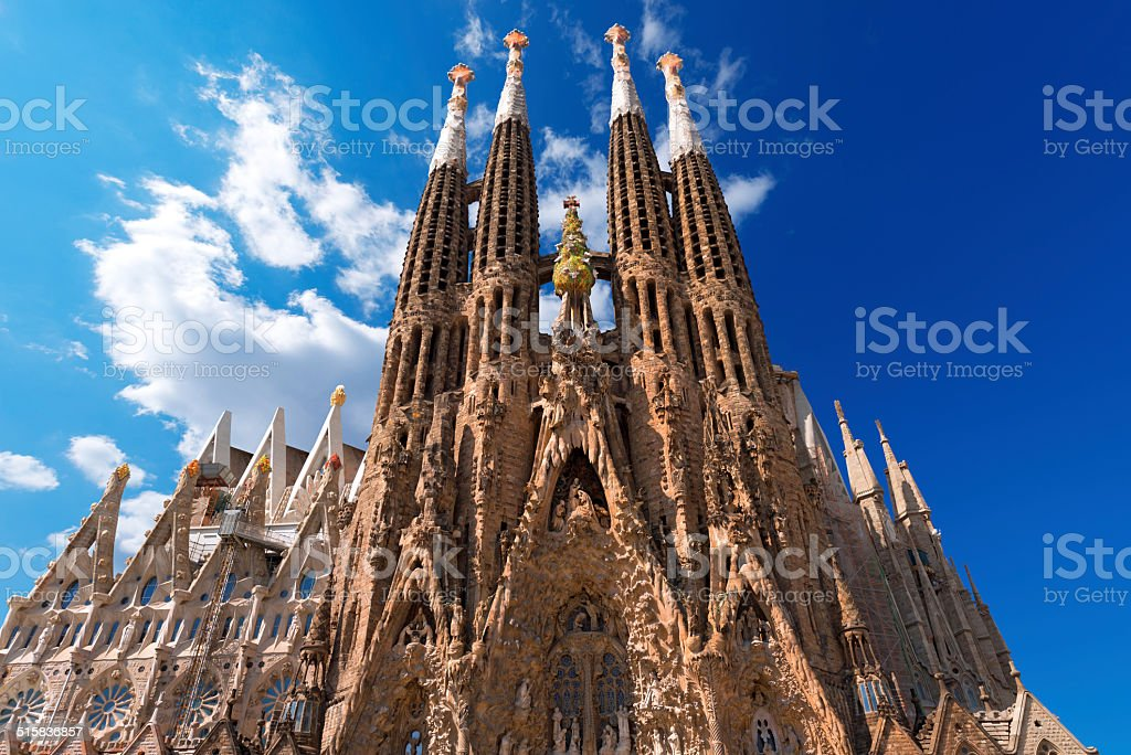 Temple Expiatori de la Sagrada Familia - Barcelona Spain stock photo
