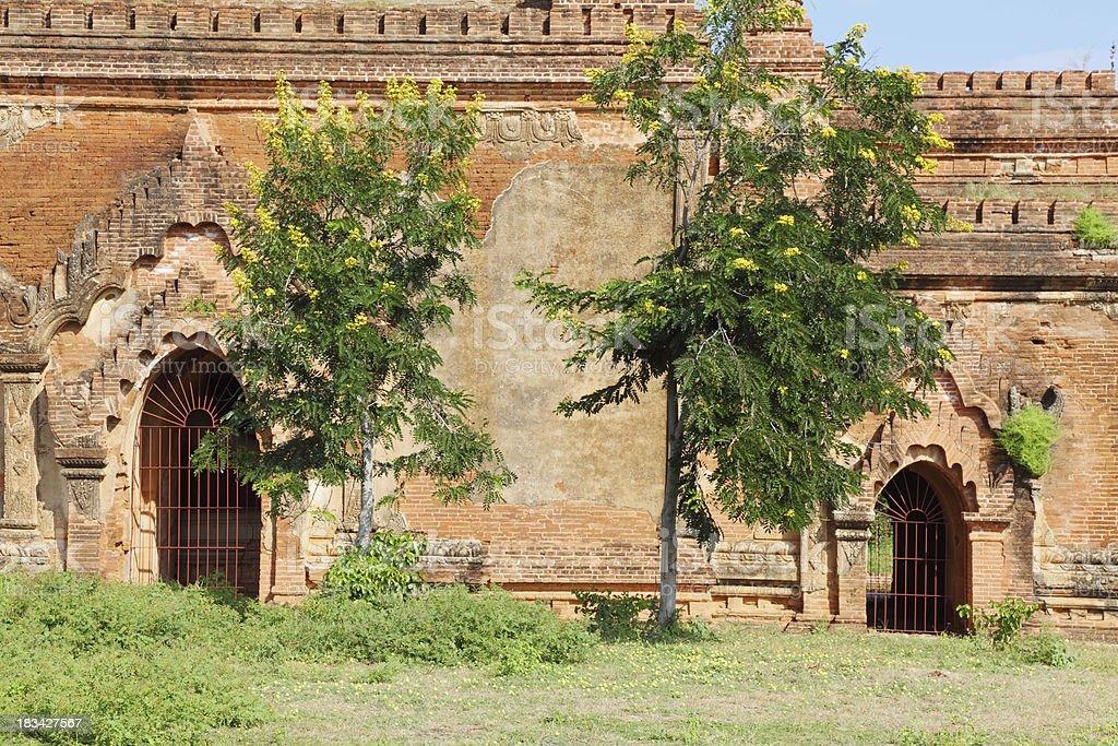 temple facade with entrances at Bagan royalty-free stock photo