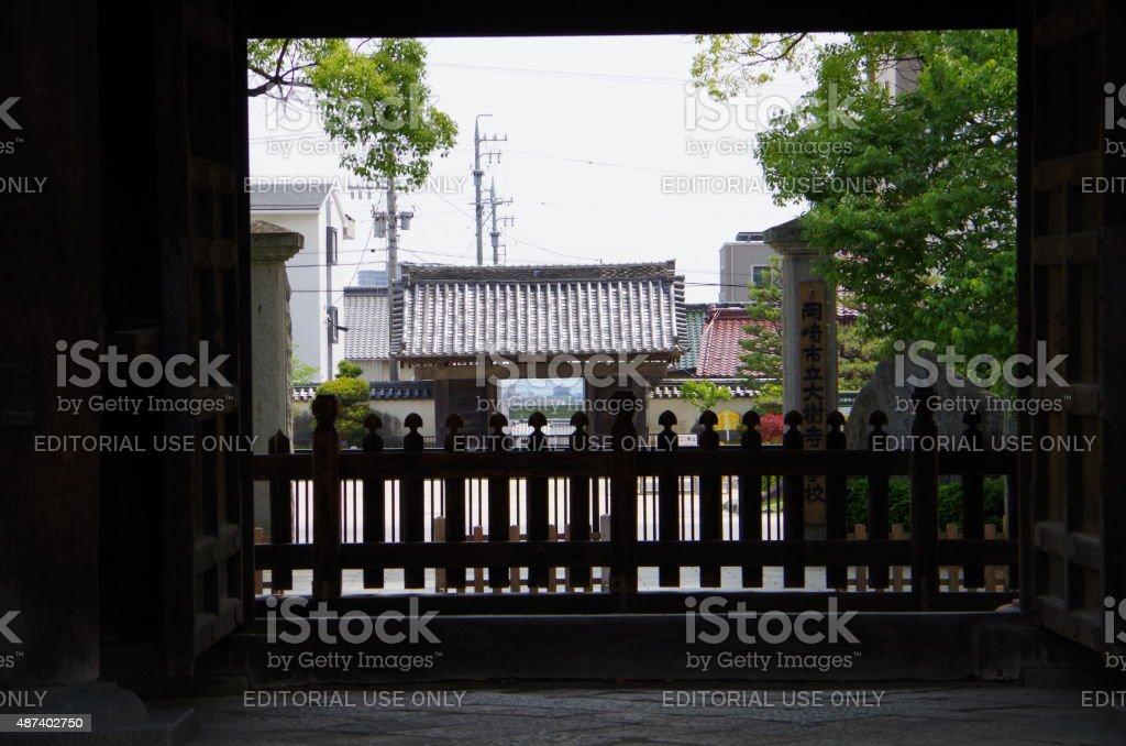 """Templo puerta Daijyuji"""""""" foto de stock libre de derechos"""