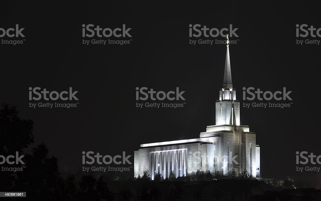 Temple Glow stock photo