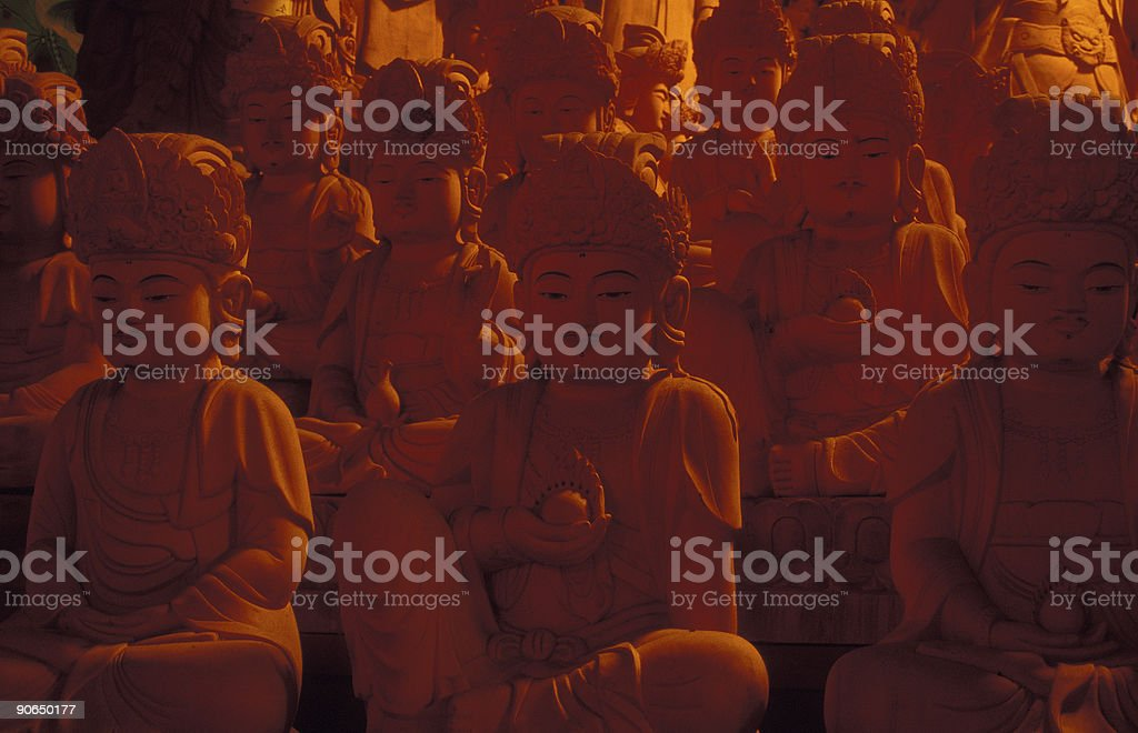 Temple Guardians royalty-free stock photo