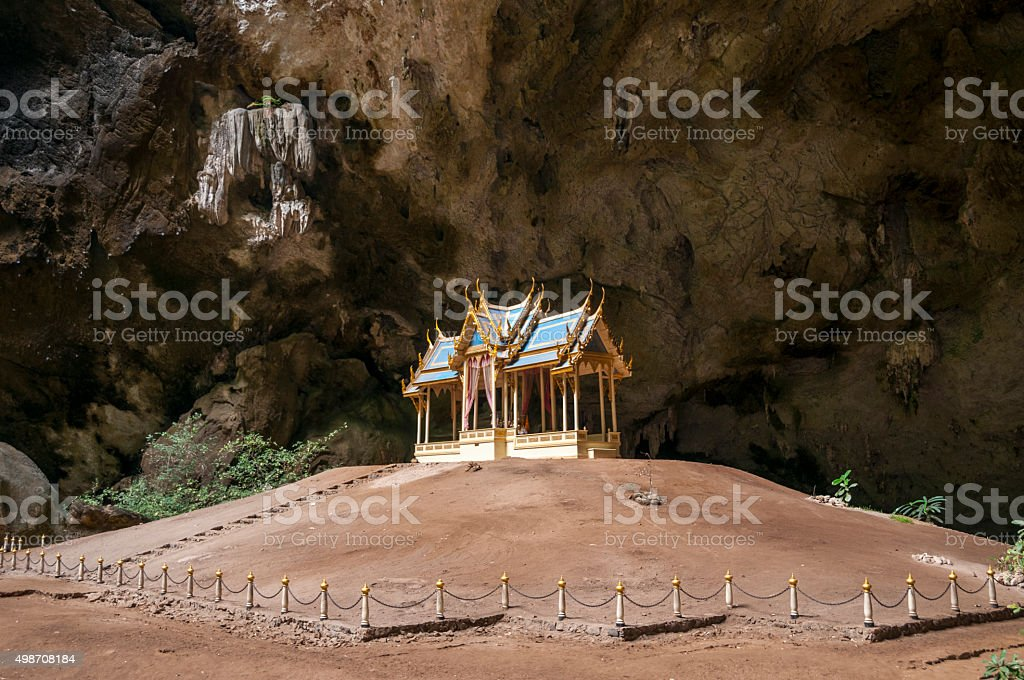 Temple In A Cave Near Hua Hin In Thailand stock photo