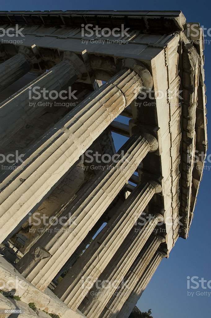 Temple in Ancient Agora (Athens) royalty-free stock photo