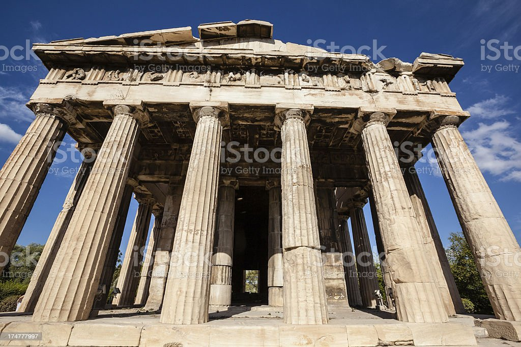 Temple In Athens royalty-free stock photo
