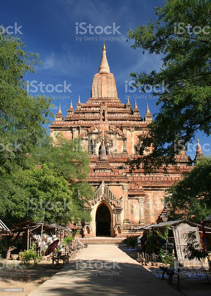 Temple in Bagan royalty-free stock photo
