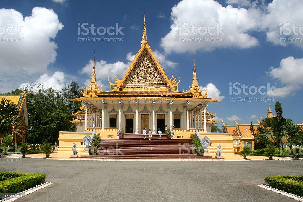 Temple in Cambodia stock photo