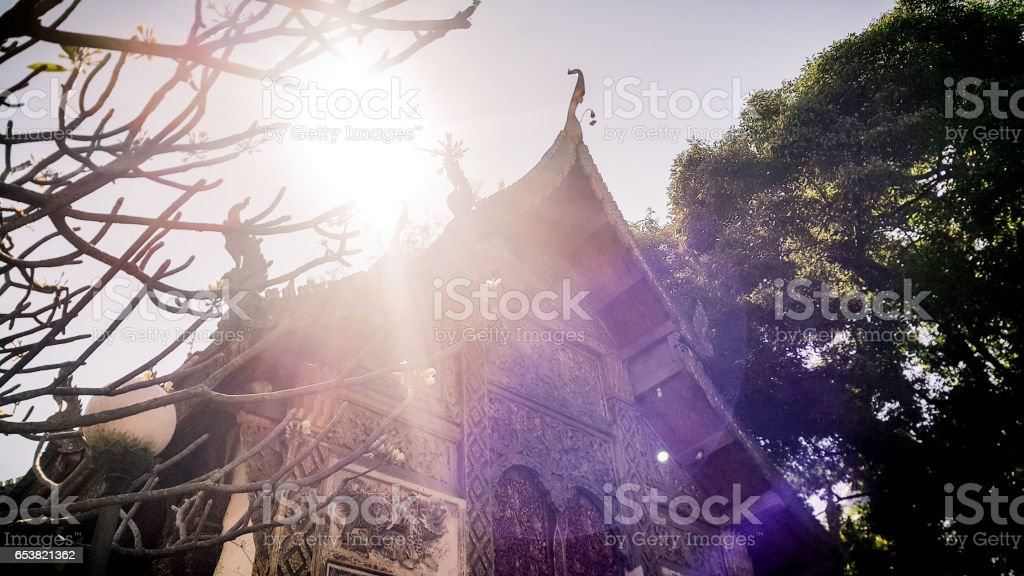 Temple in Chiang mai Thailand stock photo