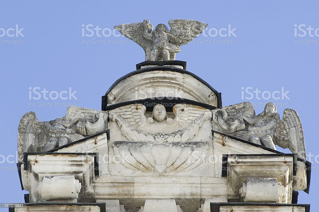Temple in Dubrovitsy, Russia royalty-free stock photo