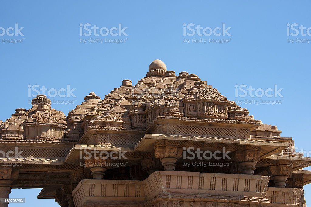 Temple in Gwalior Fort. royalty-free stock photo