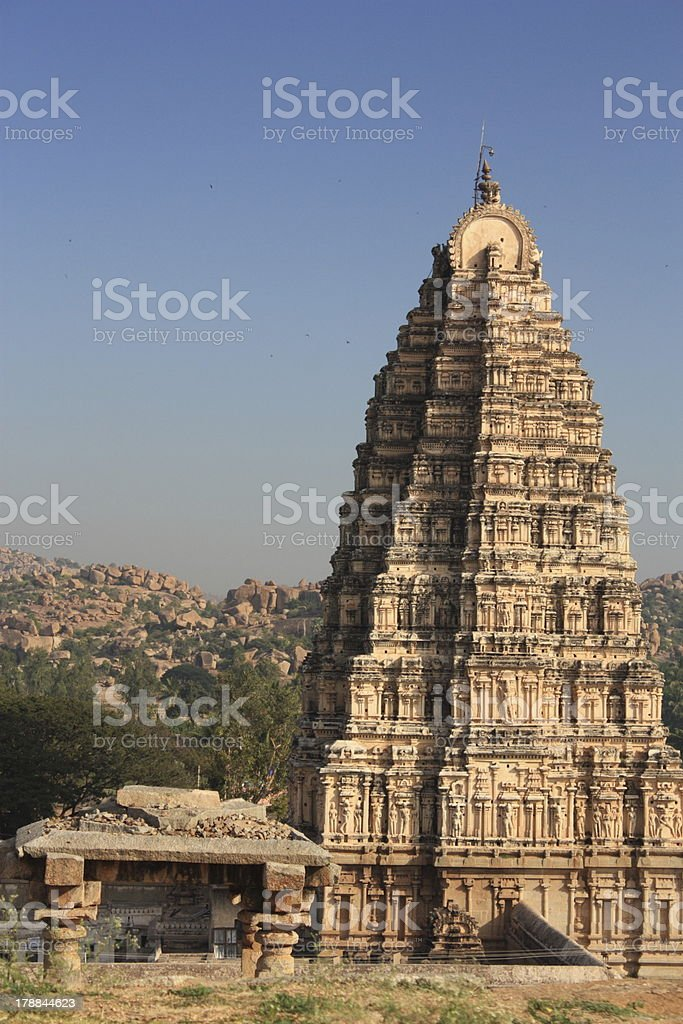 Temple in Hampi royalty-free stock photo