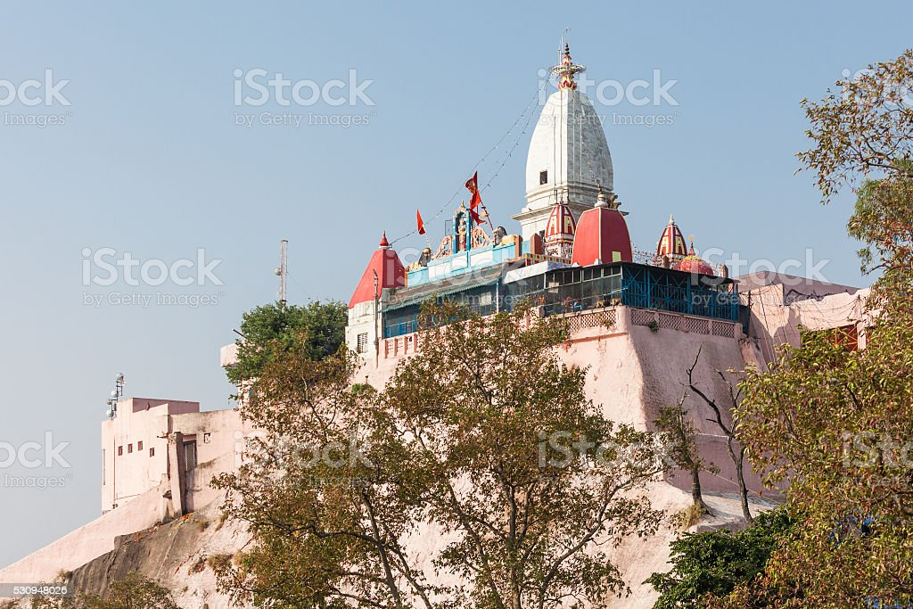 Temple in Haridwar stock photo