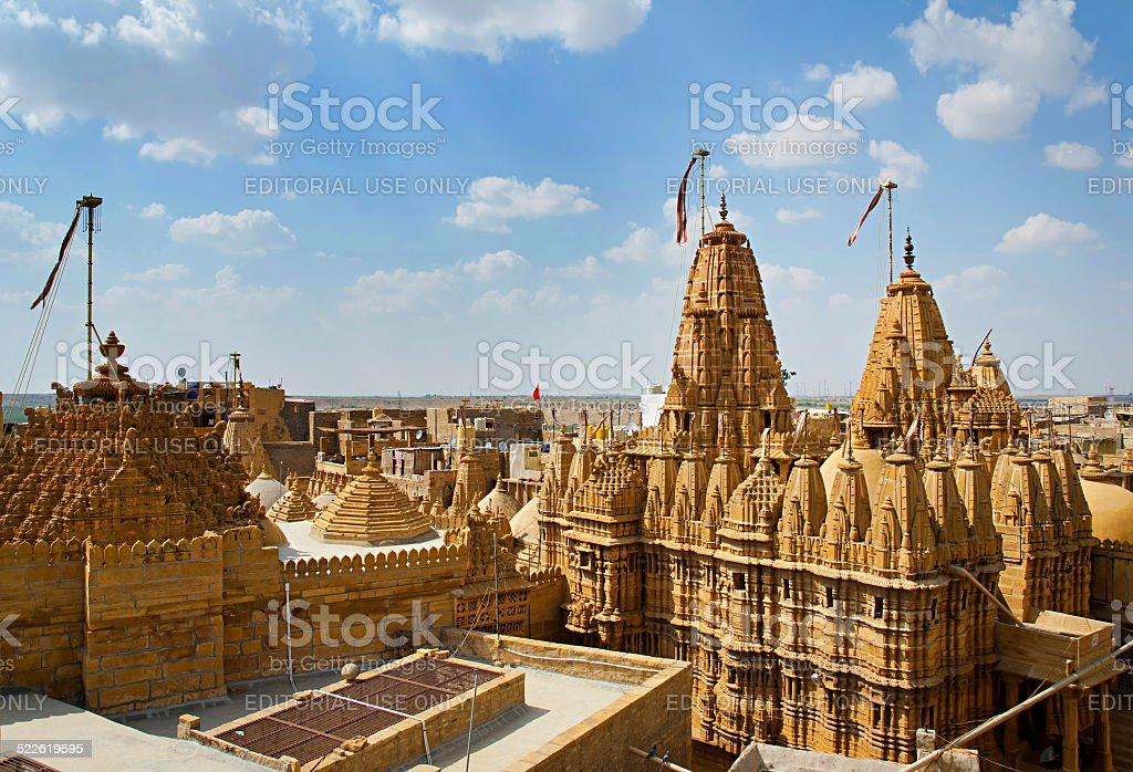 Temple de Jaisalmer Fort, Rajasthan, Inde. photo libre de droits