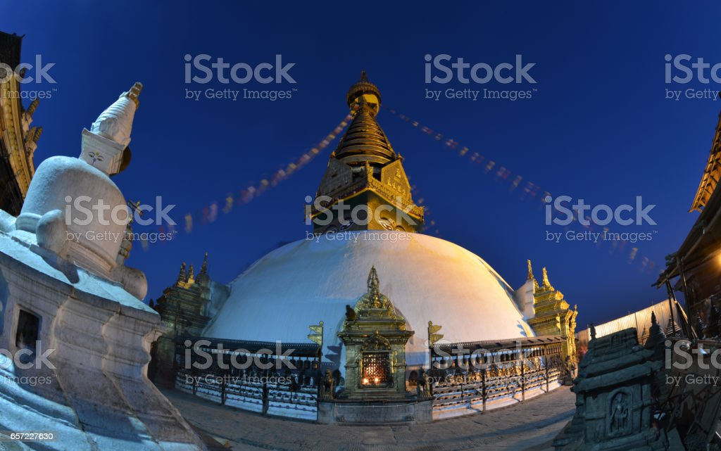 Temple in Kathmandu, Nepal stock photo