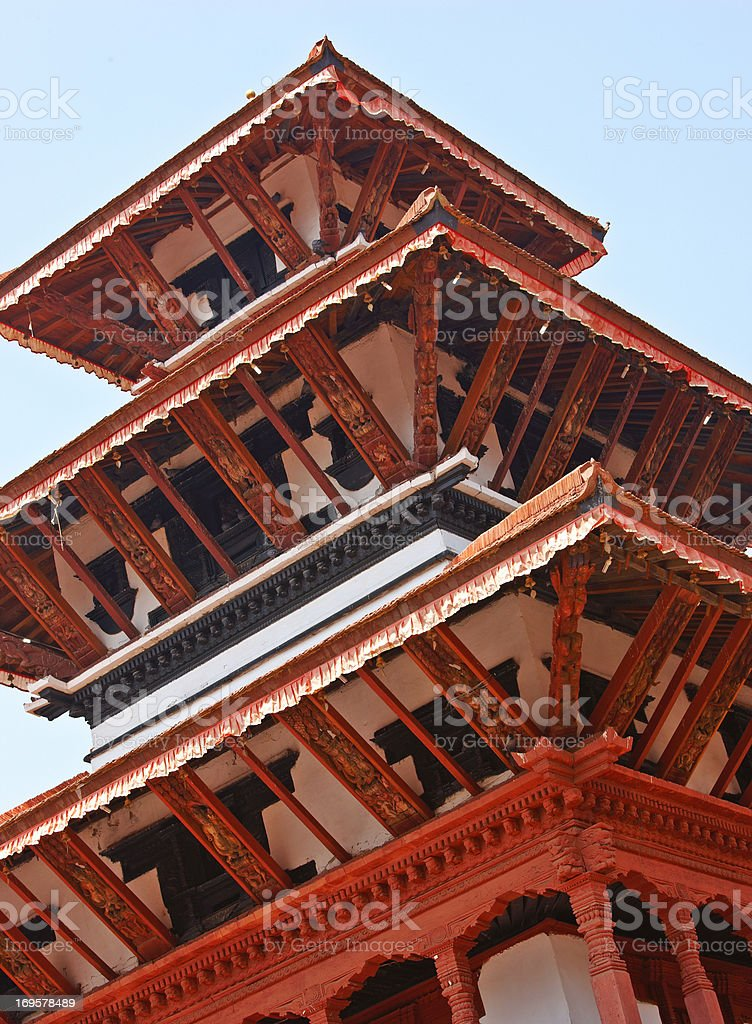 Temple in Kathmandu royalty-free stock photo