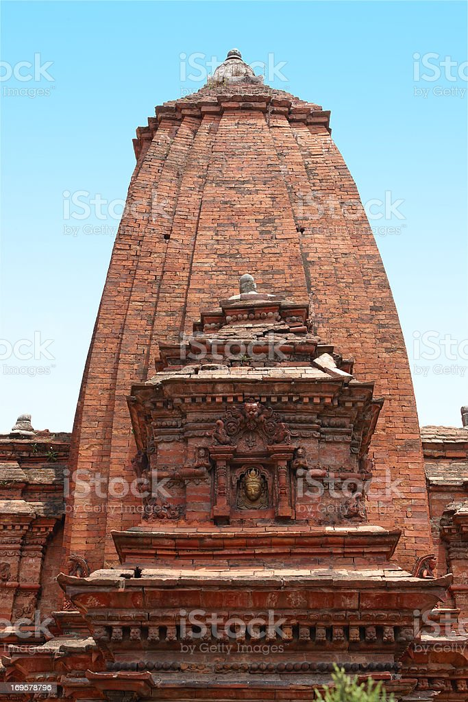 Temple in Kathmandu, the country of Nepal royalty-free stock photo