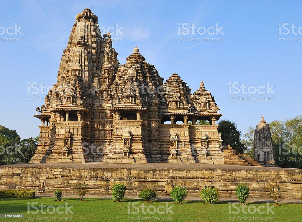 Temple in Khajuraho India stock photo