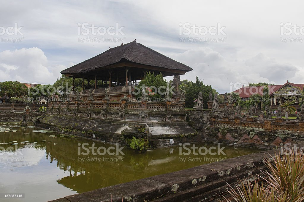 Temple in Klungkung and historic Court royalty-free stock photo