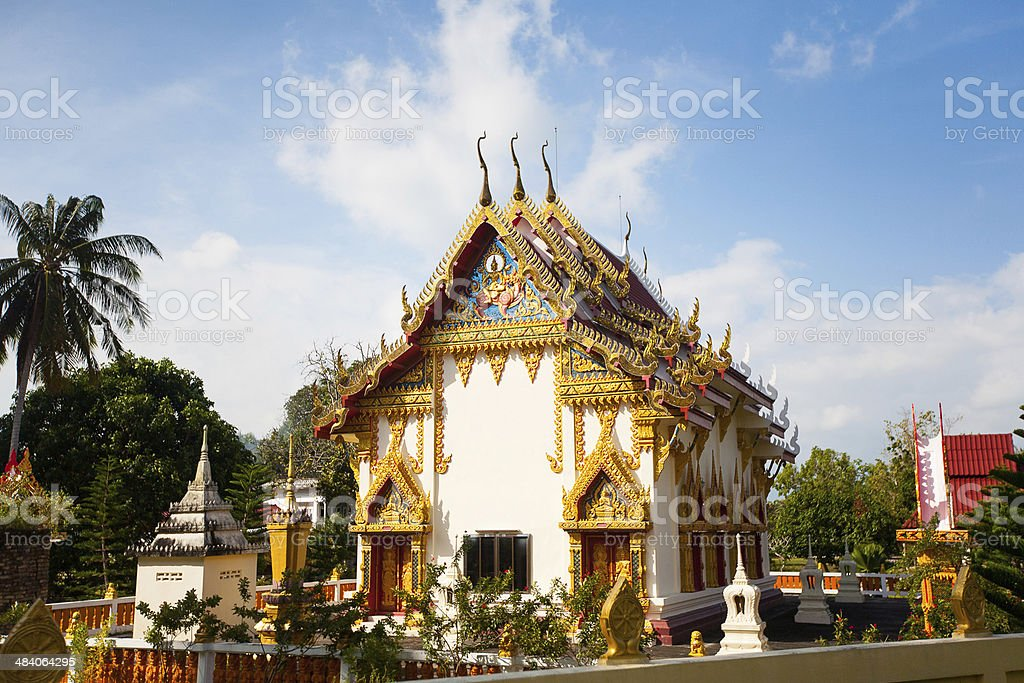 Temple in Koh Phangan stock photo