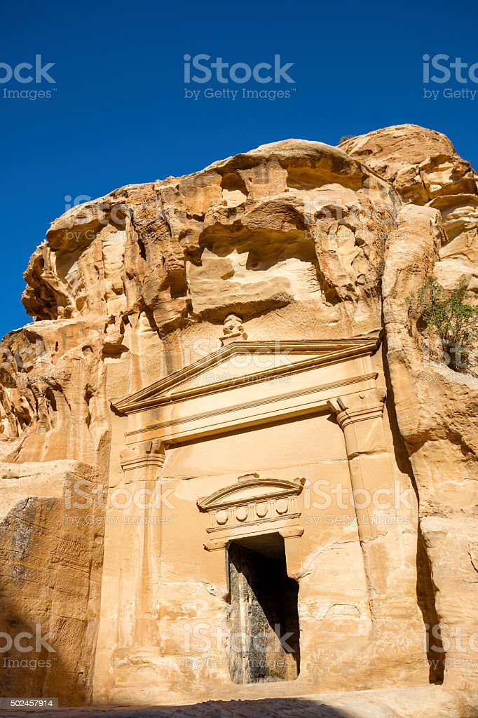 Temple in Little Petra stock photo