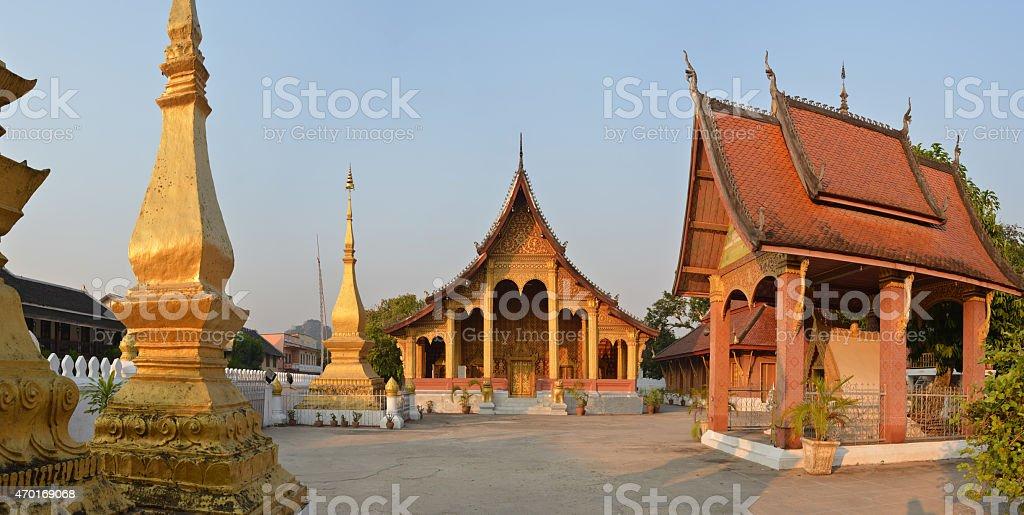 Temple in Luang Prabang, Laos stock photo