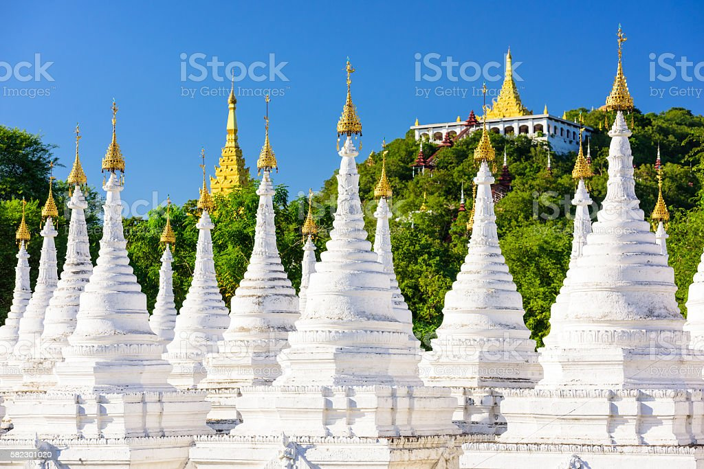 Temple in Mandalay stock photo