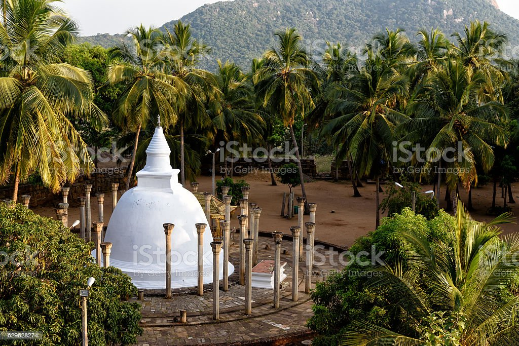 temple in Mihintale stock photo