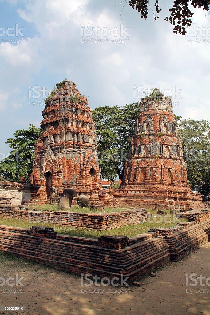 Temple de la vieille ville d'Ayutthaya photo libre de droits