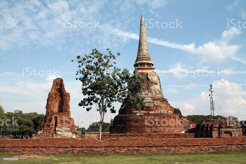 Temple de la vieille ville d'Ayutthaya photo libre de droits
