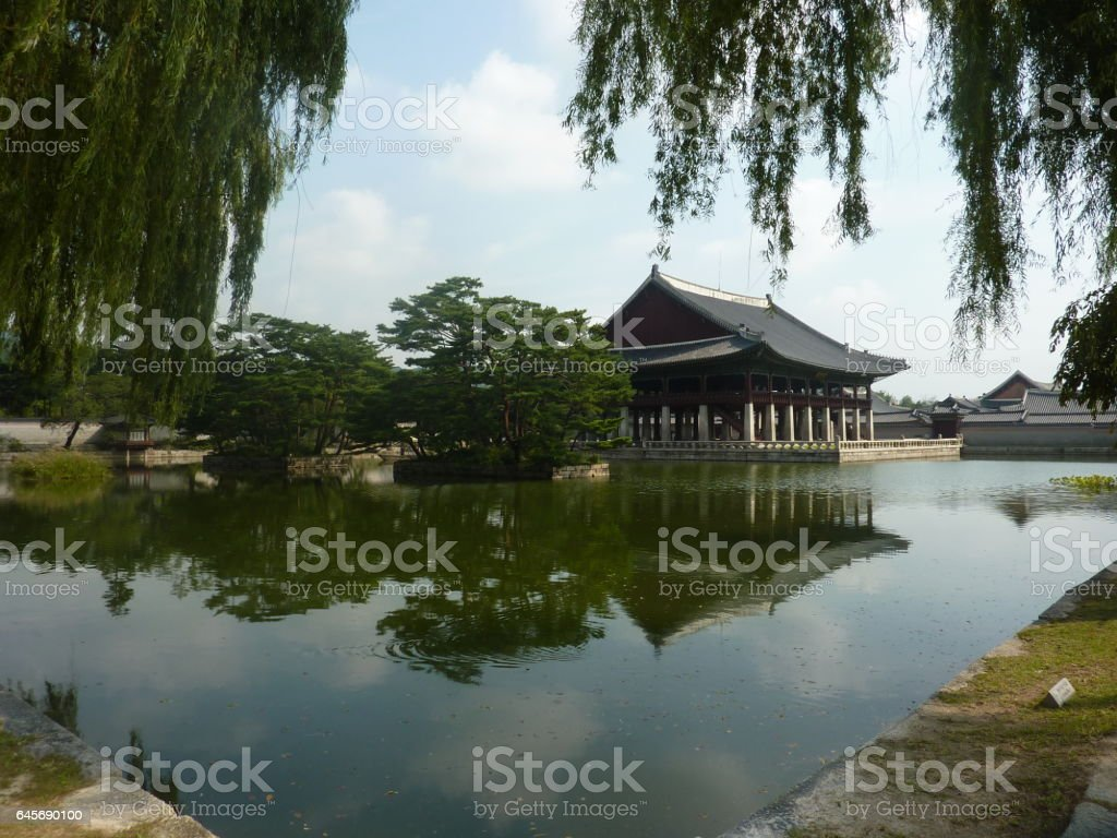 Temple in Seoul stock photo