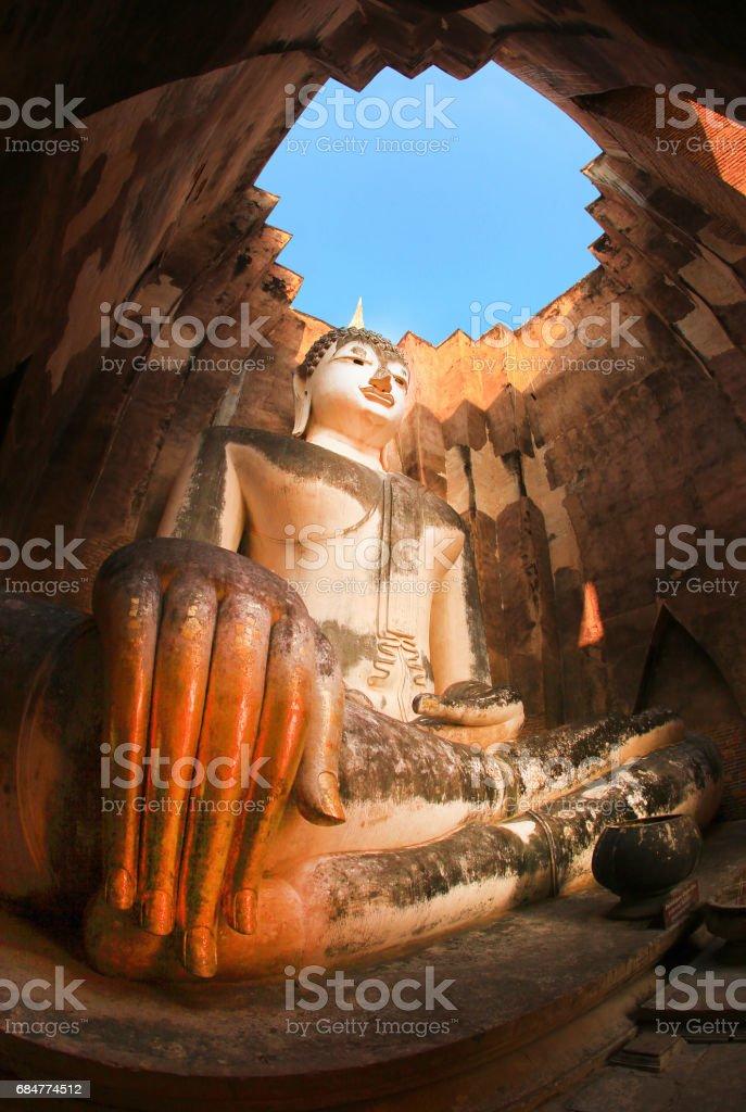Temple in Sukhothai, Thailand stock photo