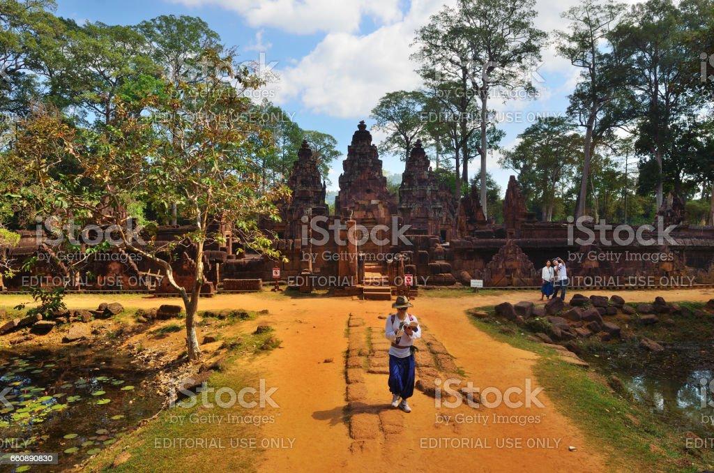 Temple in the jungle stock photo