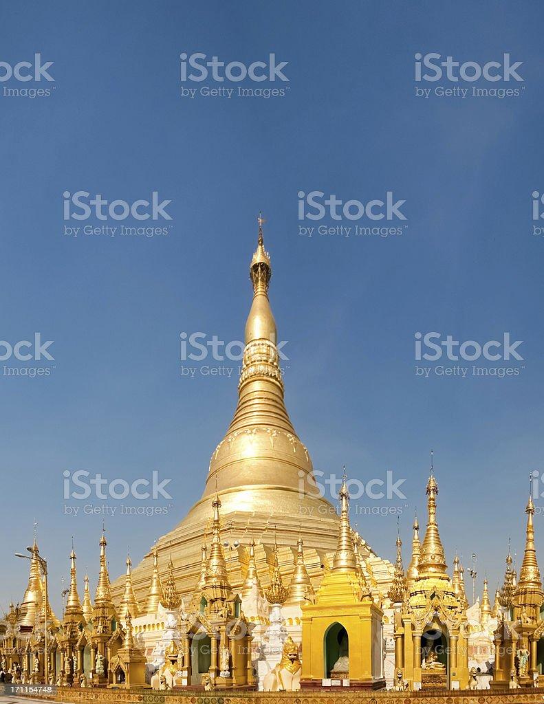 Temple in the Shwedagon Pagoda, Myanmar stock photo