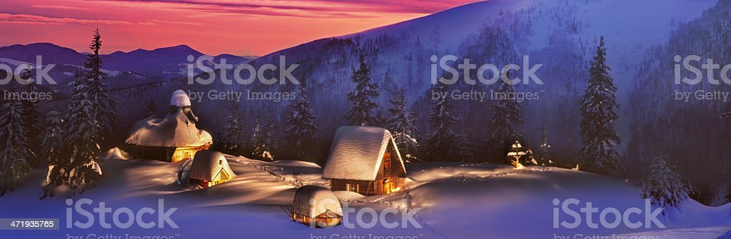 temple in the tract Rogneska stock photo