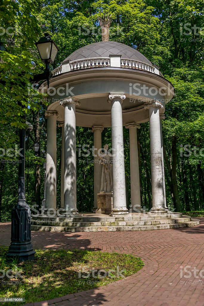 Temple in the Tsaritsyno park in Moscow - 3 stock photo