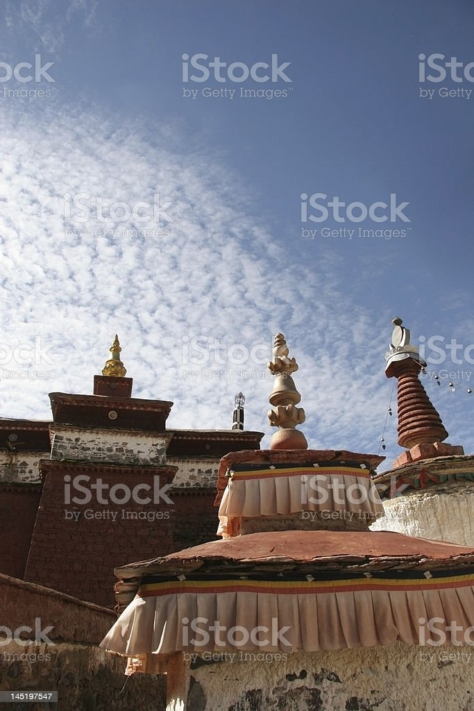 Temple in Tibet, vertical royalty-free stock photo