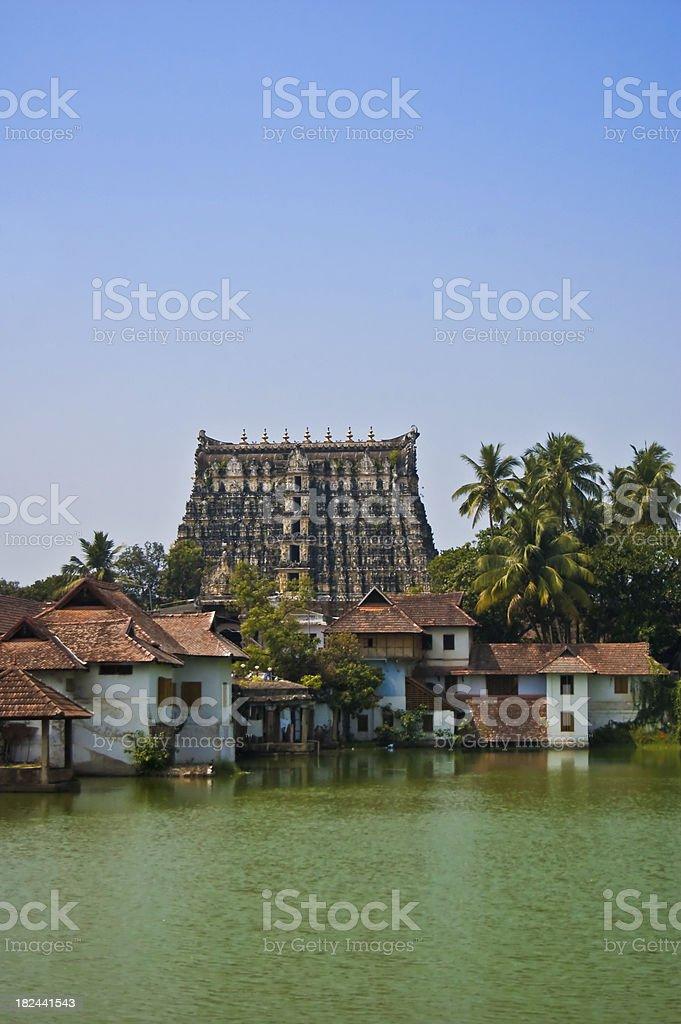 Temple in Trivandrum, India stock photo