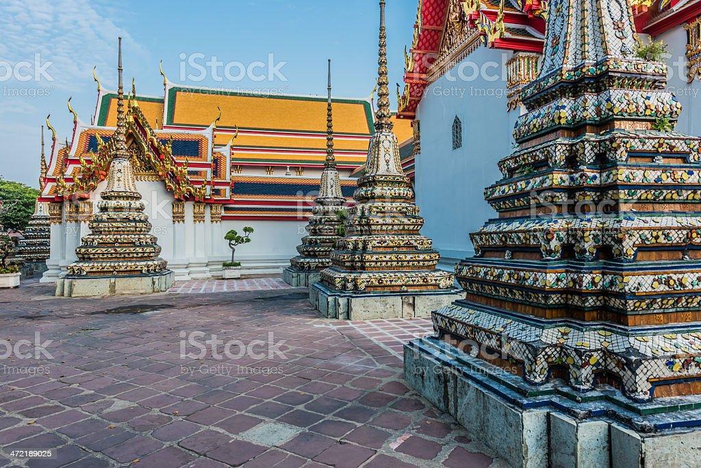 temple interior Wat Pho bangkok thailand stock photo