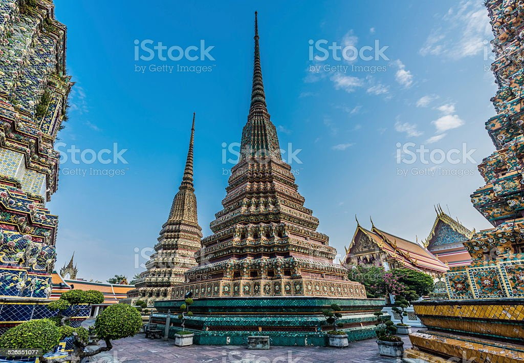 temple interior Wat Pho temple bangkok Thailand stock photo