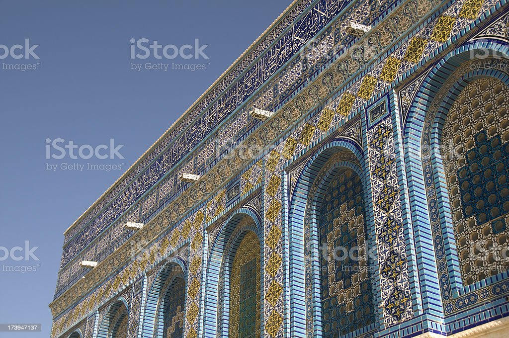 Temple Mosaic royalty-free stock photo