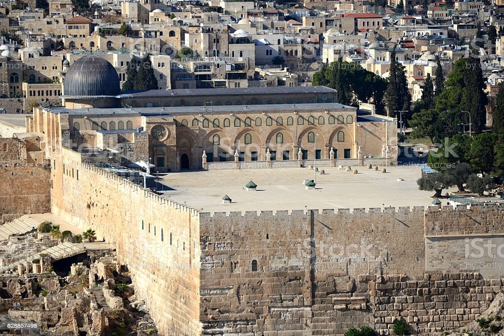 Temple Mount, al-Aqsa Mosque, Jerusalem stock photo