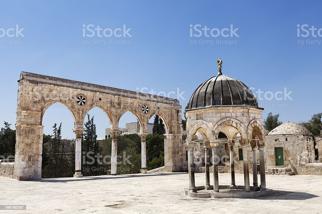Temple Mount Entrance royalty-free stock photo