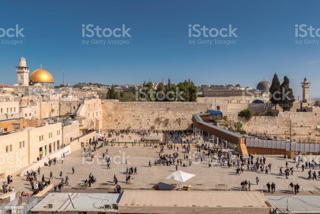 Temple Mount in Jerusalem Old City stock photo