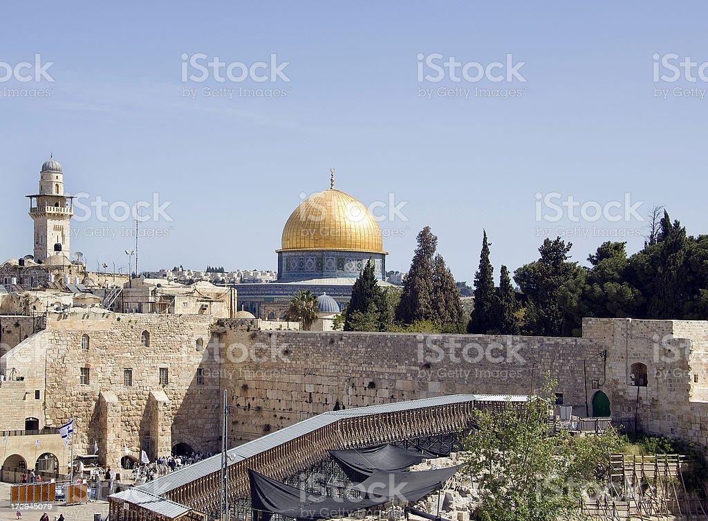 Temple Mount - Jerusalem Israel stock photo