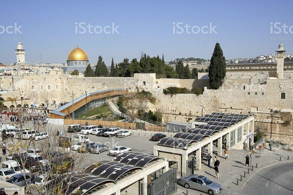 Temple Mount Jerusalem stock photo