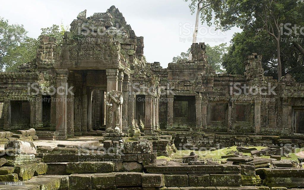 Temple Near Angkor Wat In Cambodia royalty-free stock photo