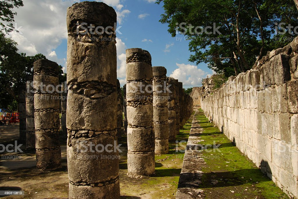 Temple of a Thousand Columns stock photo