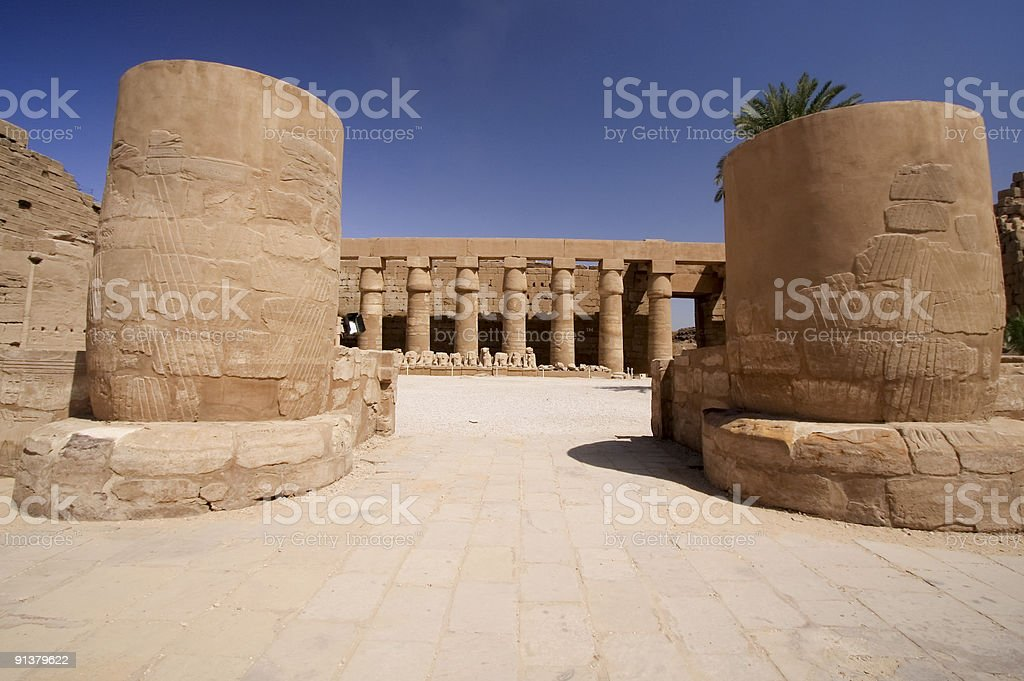 Temple of Amun royalty-free stock photo
